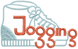 Jogging Shoes embroidery design