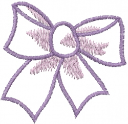 Large Watercolor Bow embroidery design