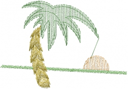 Palm Tree Sunrise embroidery design