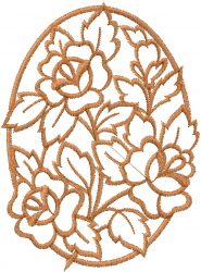 Rose Window embroidery design