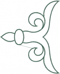Swirl Outline embroidery design