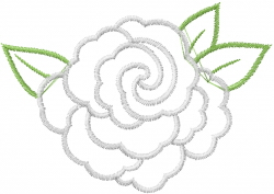 Layered Rose Outline embroidery design