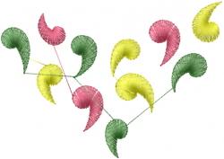 Diamond Swirls embroidery design