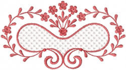 Swirling Floral Heart embroidery design