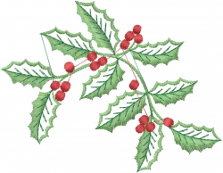 Christmas Holly Berries embroidery design