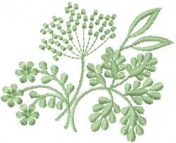 Green Flower Sprays embroidery design