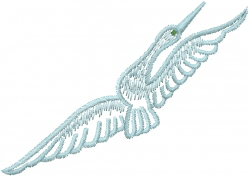 Flying Egret Bird embroidery design