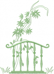Swirl Handrail Vines embroidery design