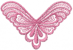 Fancy Swirl Butterfly embroidery design