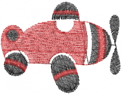 Toy Plane embroidery design