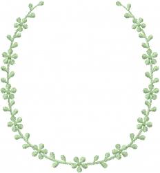 Floral Spray Neckline embroidery design