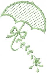 Floral Umbrella embroidery design