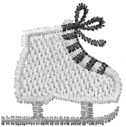 Ice Skating Shoe embroidery design