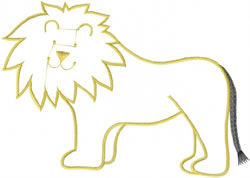 Cute Lion Outline embroidery design