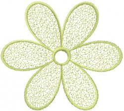 Webbed Daisy embroidery design