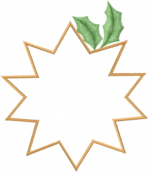 Christmas Star Patch embroidery design