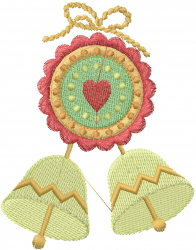 Southwest Windchime embroidery design