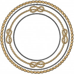Circle Ropes Knots embroidery design