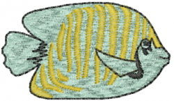 Saltwater Angel Fish embroidery design