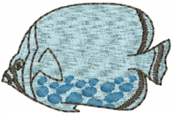 Saltwater Angelfish embroidery design