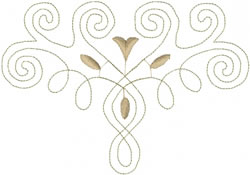 Floral Swirl Outline embroidery design