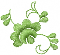 Small Floral Vine embroidery design