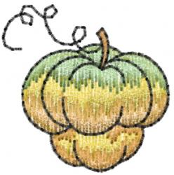 Fall Squash embroidery design