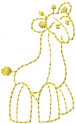 Toy Giraffe Outline embroidery design