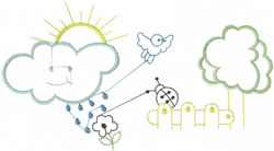 Childrens Scenery Outline embroidery design