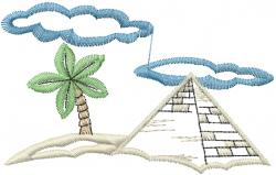 Pyramid Palm Tree embroidery design