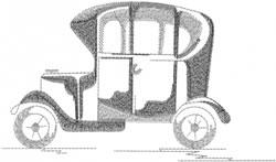 Model A Antique Car embroidery design