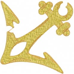 Broken Anchor embroidery design