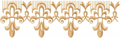 Fancy Scroll Border embroidery design