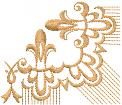 Fancy Scroll Edge embroidery design