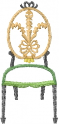 Antique Chair Outline embroidery design
