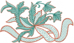 Ribbon Ivy Vine embroidery design