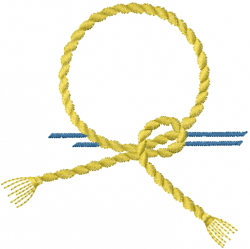 Rope Badge embroidery design