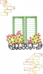 French Windowbox embroidery design