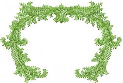 Swirl Ivy Border embroidery design