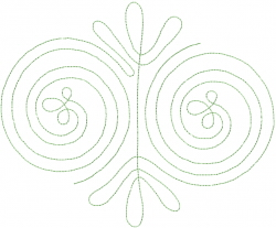 Swirling Design embroidery design