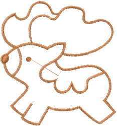 Toy Horse Outline embroidery design