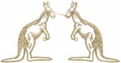 Kangaroo Pair embroidery design