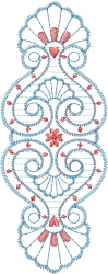 Floral Shell Design embroidery design
