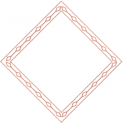 Redwork Diamond embroidery design