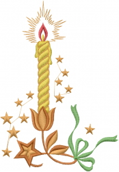 Christmas Star Candle embroidery design
