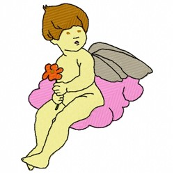 Angel On Cloud embroidery design