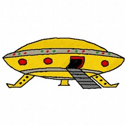 UFO embroidery design
