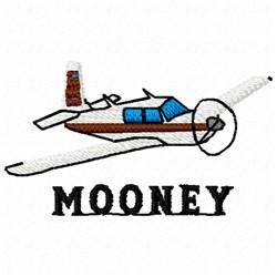 Mooney Plane embroidery design