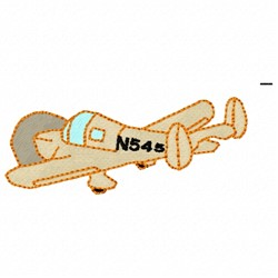 Small Airplane embroidery design
