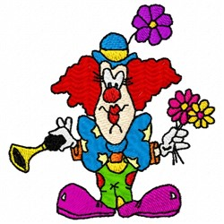Horn Clown embroidery design